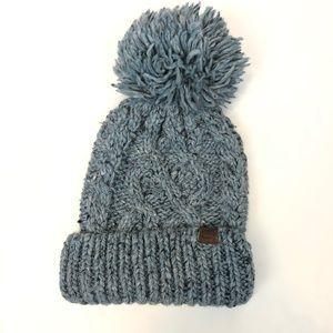 Roots Pom Pom Knit Winter Hat One Size